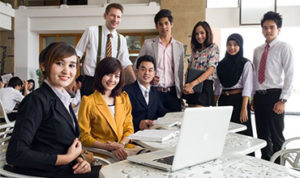 Siam University Students at a Conference