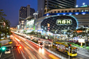 Siam Square is a short walk to Siam University
